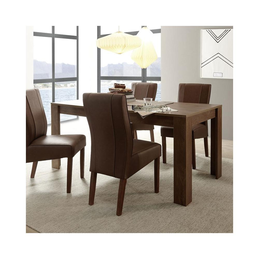 Table de repas rectangulaire Chêne foncé - RIMINI n°1