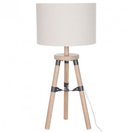 Lampe Bureau Trepied Bois Naturel Fauvette Univers De La Decoration