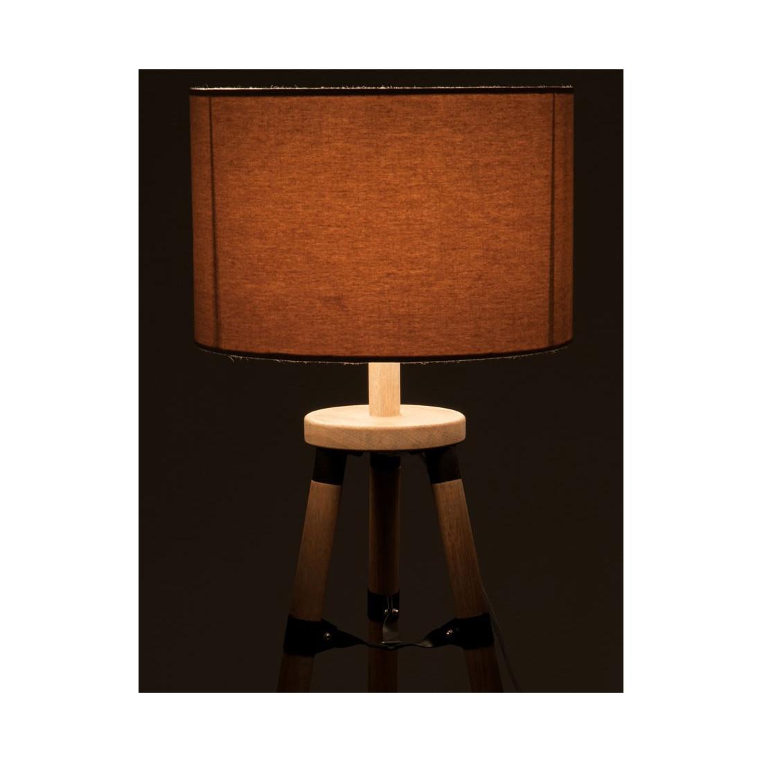 lampe bureau tr pied bois naturel fauvette univers de la. Black Bedroom Furniture Sets. Home Design Ideas