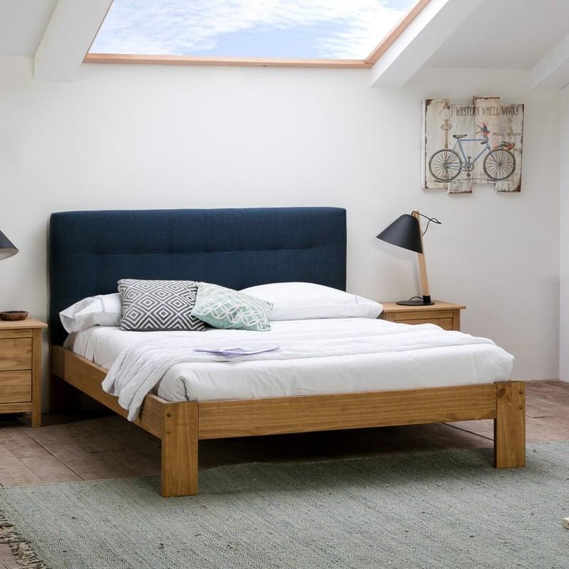 Tête de lit tissu Bleu 152 cm - CATZ