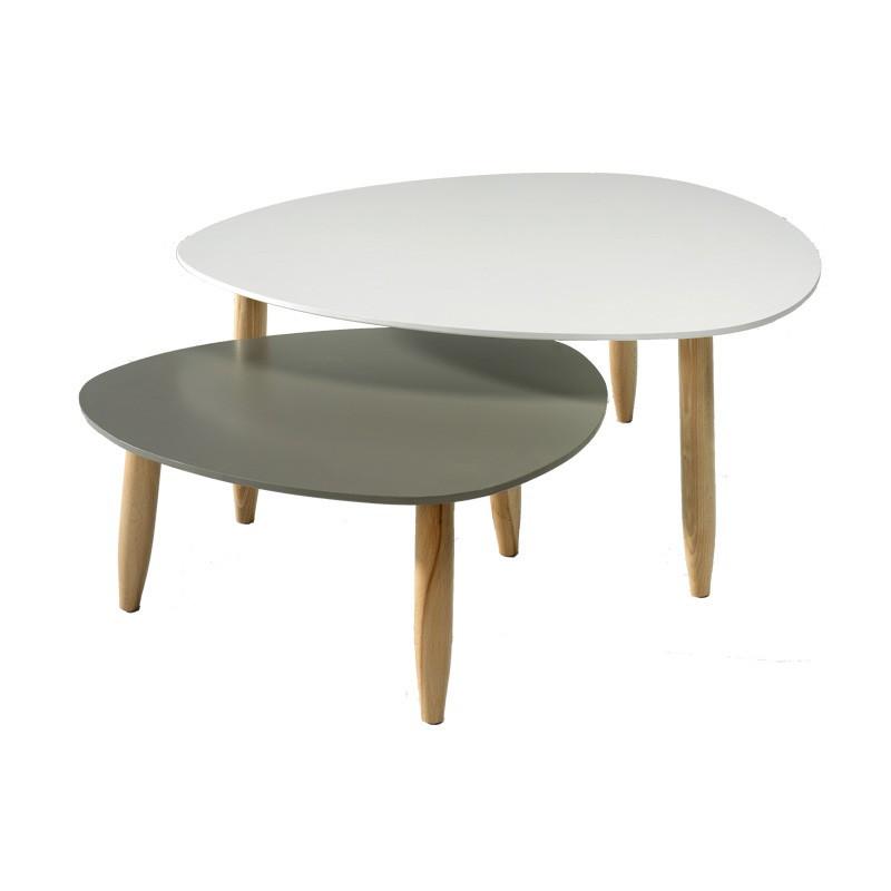 Tables gigognes Blanc/Gris - OVNI