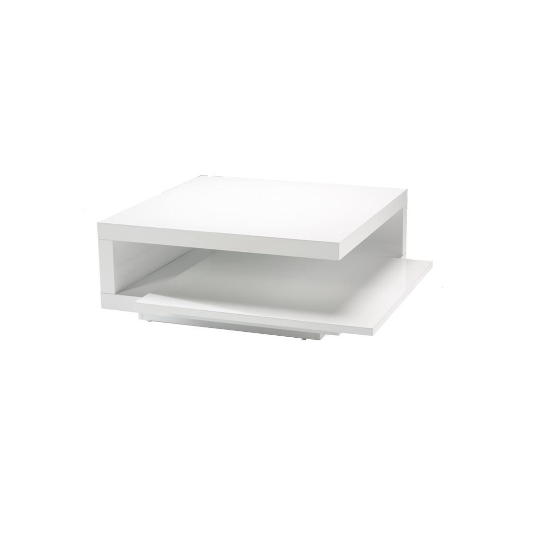 Table basse carr e blanc carry univers du salon - Table basse carree blanc ...
