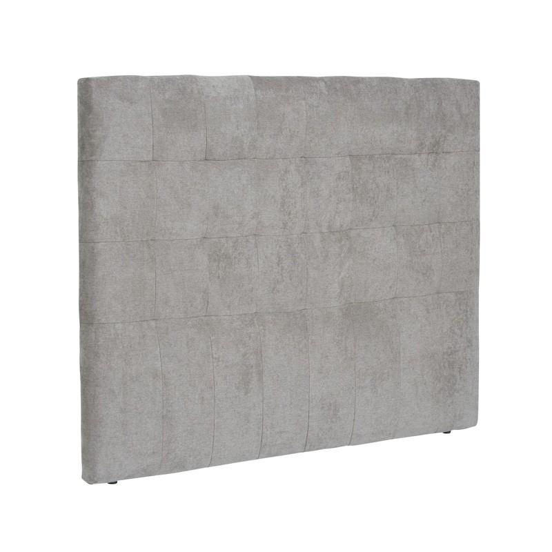 Tête de lit tissu Gris 165 cm - EMELINE