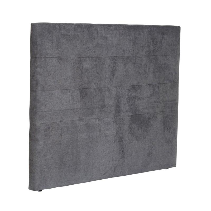 Tête de lit tissu Gris anthracite 165 cm - EMELINE