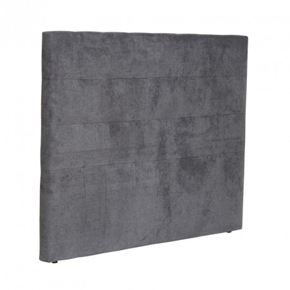 t te de lit moderne tissu gris anthracite 165 cm univers de la chambre. Black Bedroom Furniture Sets. Home Design Ideas