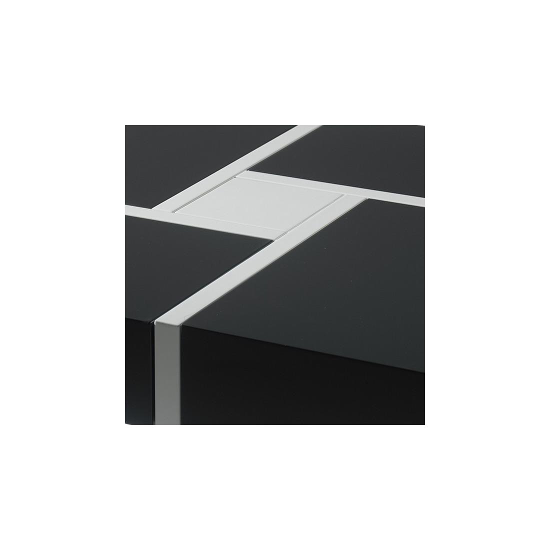table basse carr e quadro univers du salon tousmesmeubles. Black Bedroom Furniture Sets. Home Design Ideas
