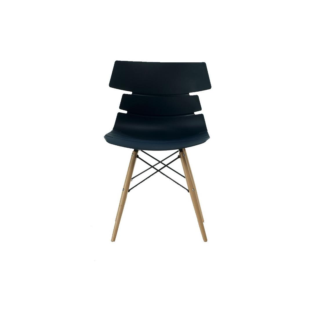 quatuor de chaises bleues siry univers salle manger tousmesmeubles. Black Bedroom Furniture Sets. Home Design Ideas