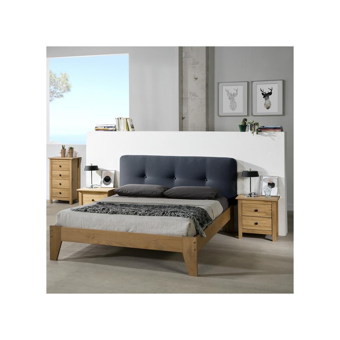 t te de lit tissu bleu 152 cm joey n 1 univers de la chambre. Black Bedroom Furniture Sets. Home Design Ideas