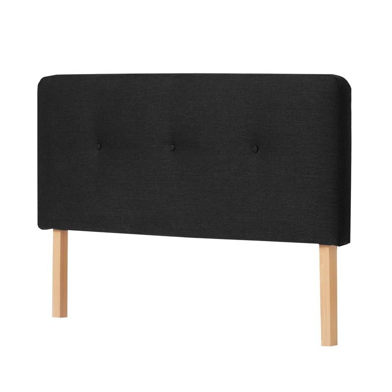 Tête de lit tissu Noir 152 cm - JOEY n°1
