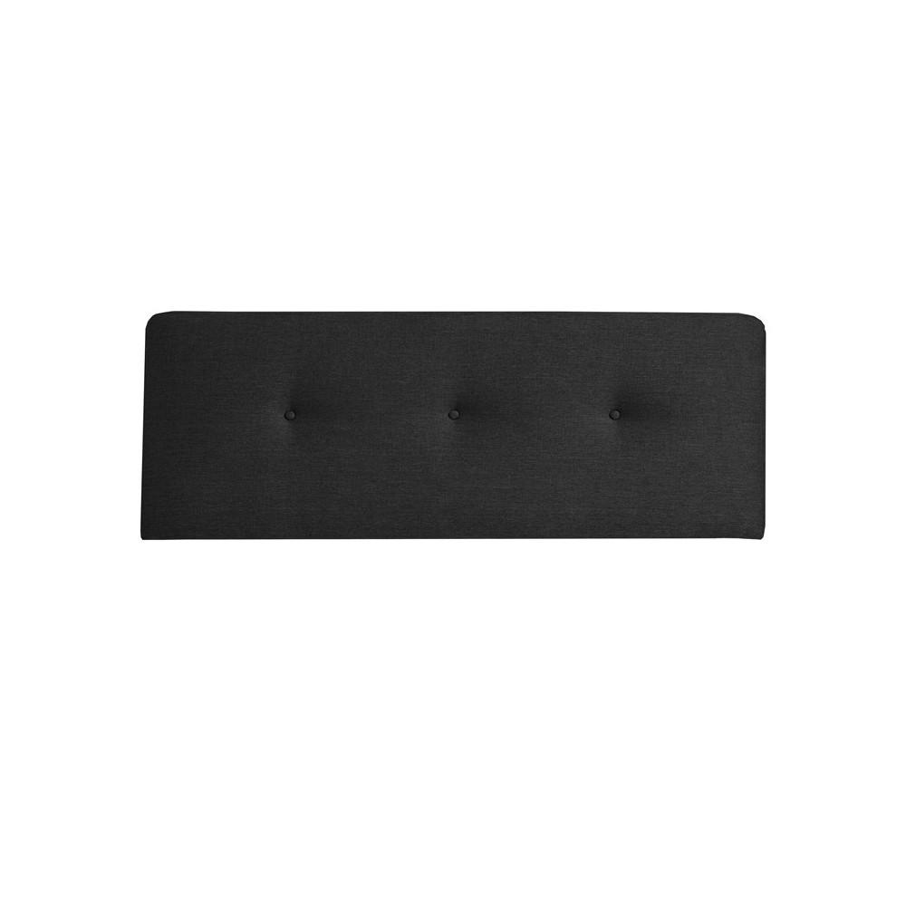 Tête de lit tissu Noir 152 cm - JOEY n°2