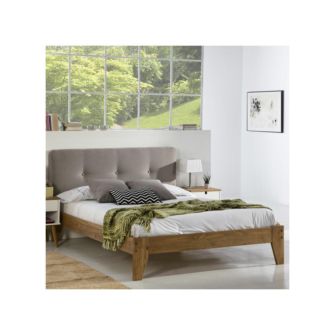 t te de lit tissu beige 152 cm joey univers de la chambre. Black Bedroom Furniture Sets. Home Design Ideas