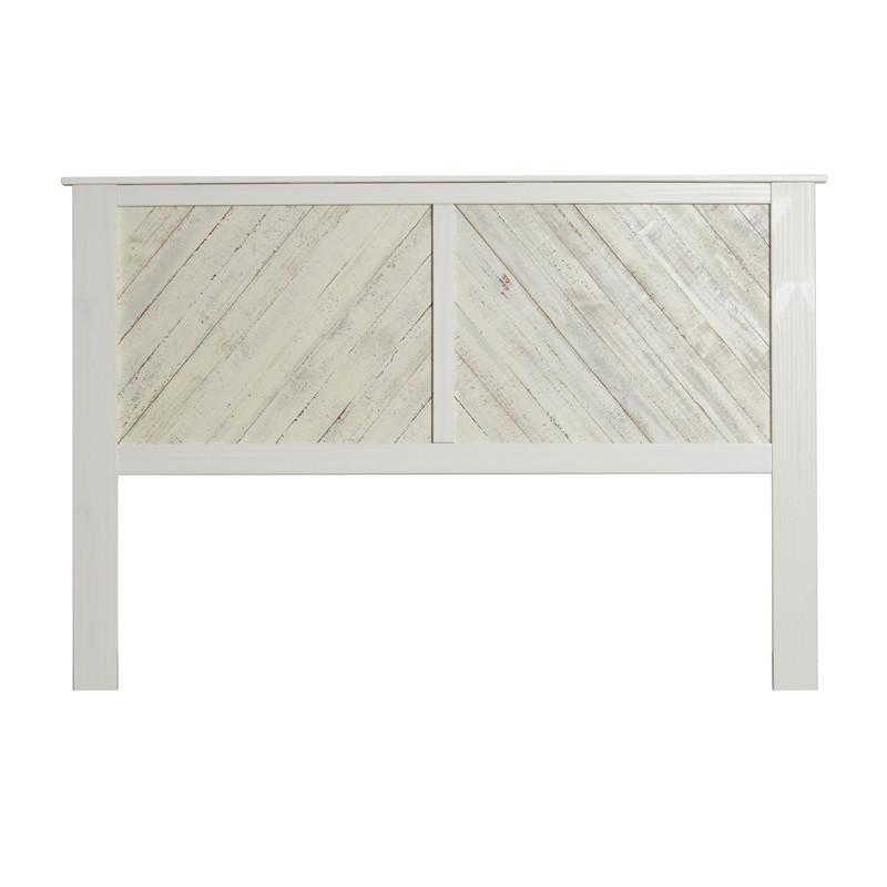 Tête de lit 164 cm bois Blanc lavé - JUDAY