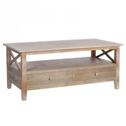 Table basse 2 tiroirs Bois - FERRET