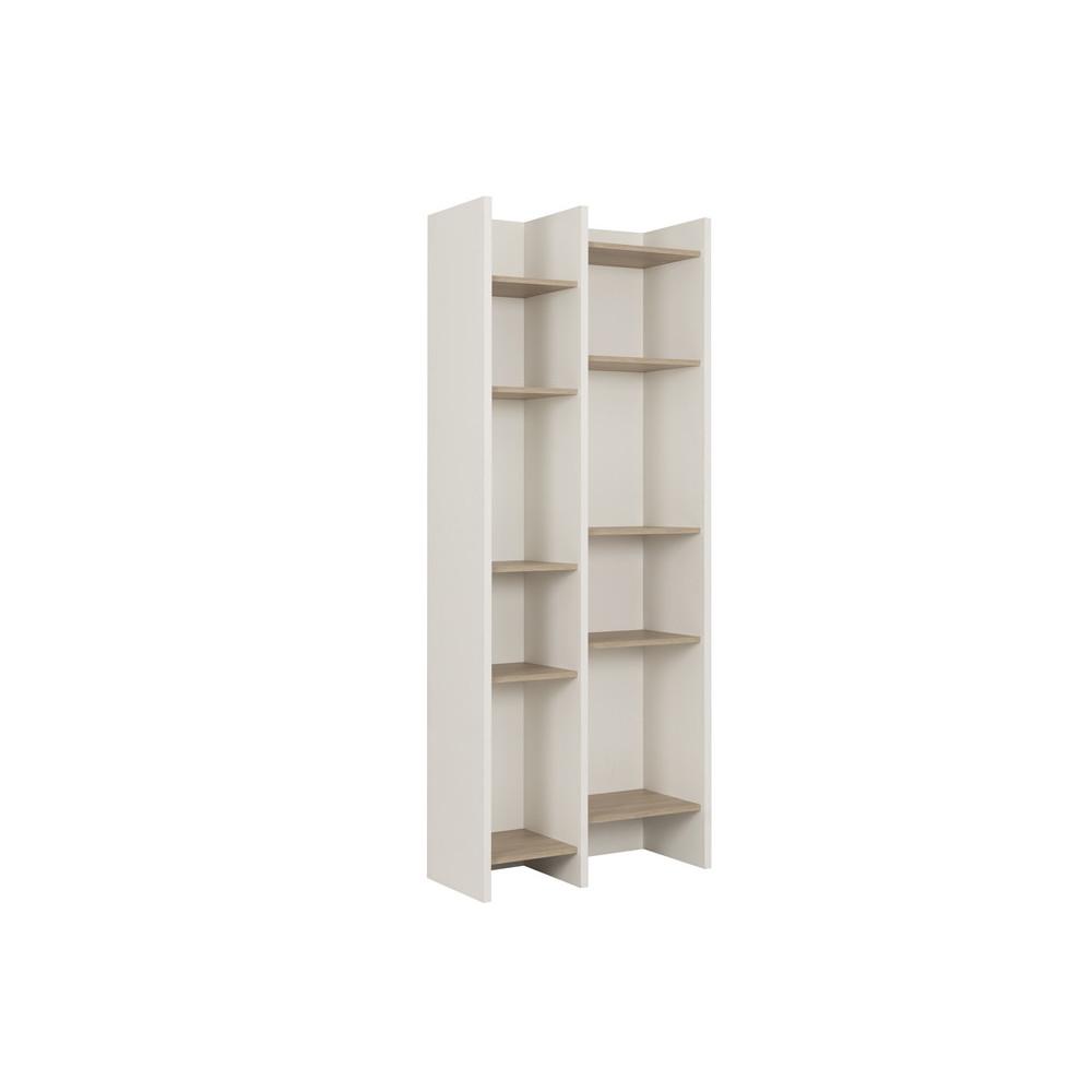 Bibliothèque bois blanc brut moderne - Univers Salon et Bureau : Tousmesmeubles