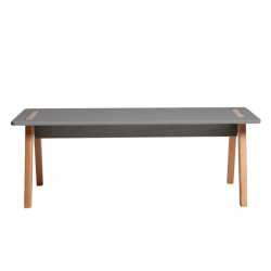 Table basse rectangulaire Gris/Bois - CHACA