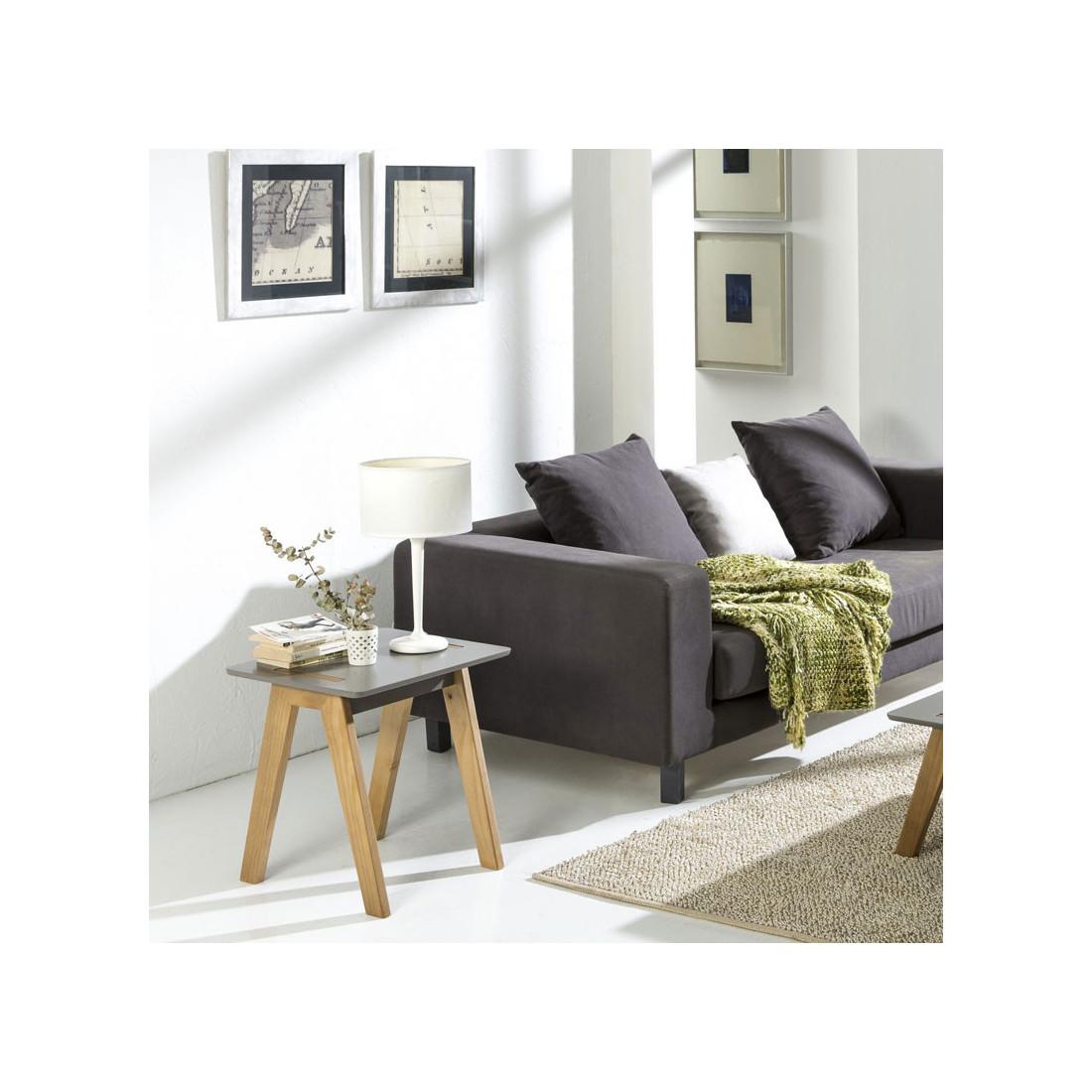 bout de canap scandinave gris bois chaca univers petits. Black Bedroom Furniture Sets. Home Design Ideas