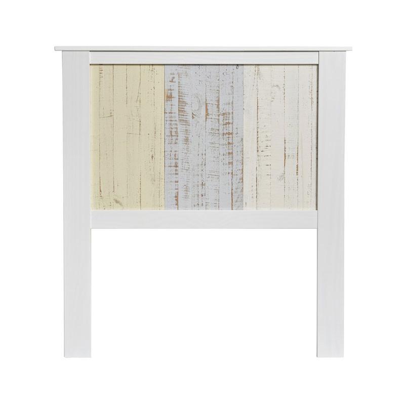 Tête de lit Bois blanchi/multicolores 104 cm - LYHANA
