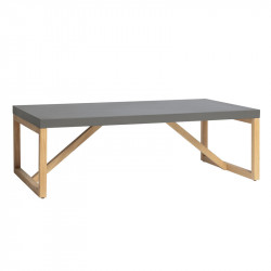 Table basse rectangulaire Gris/Bois - MILAN