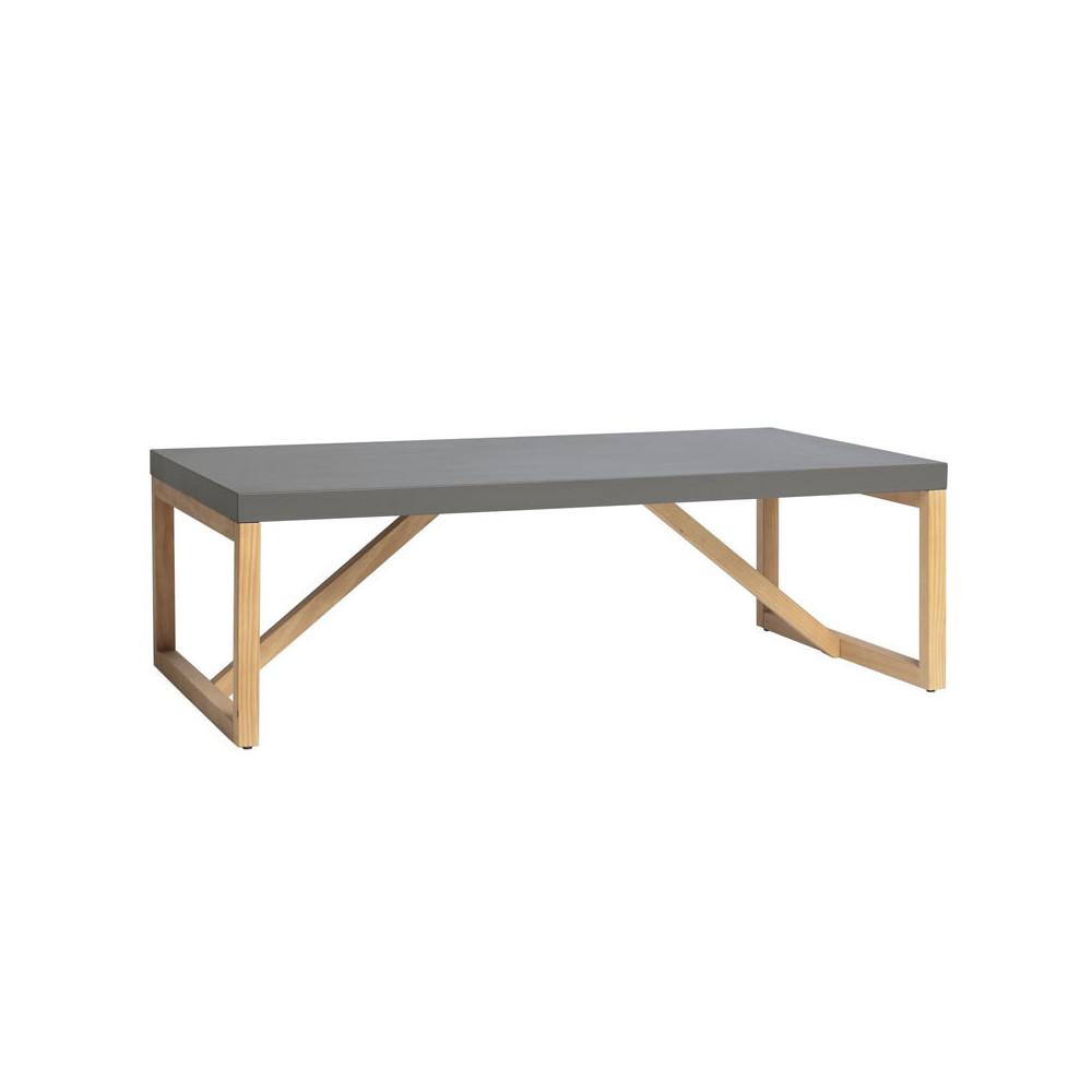 Table basse rectangulaire Gris/Bois - MILAN