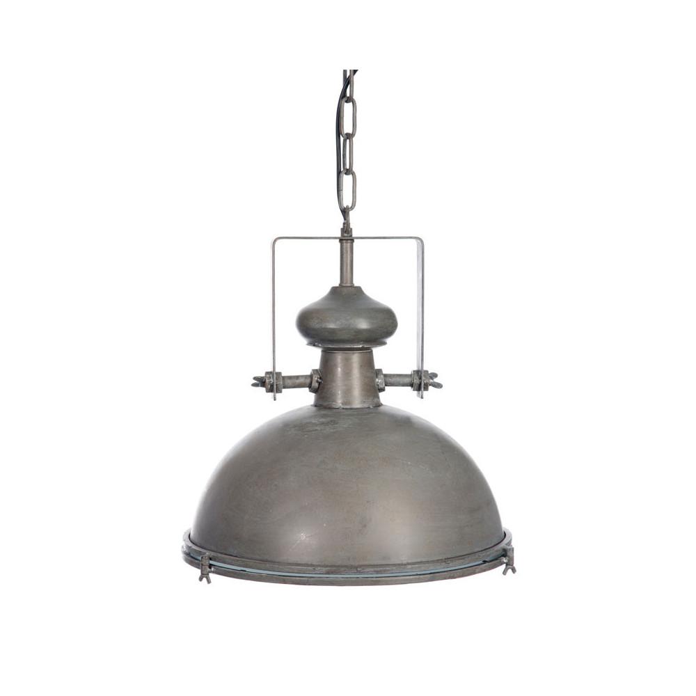 Suspension ronde Métal gris - MADISON