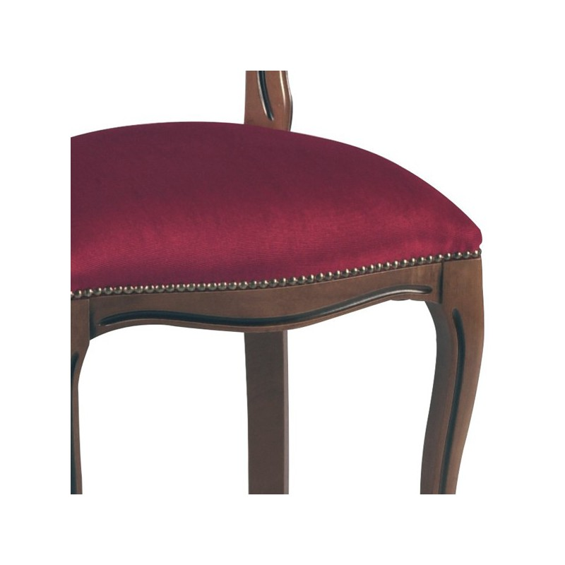 Duo de chaises m daillon r gence velours bordeaux rigo univers assises - Chaise medaillon velours ...