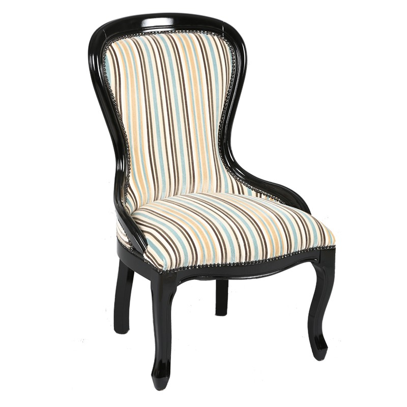 Fauteuil chauffeuse a rayures ashley univers assises for Fauteuil chauffeuse