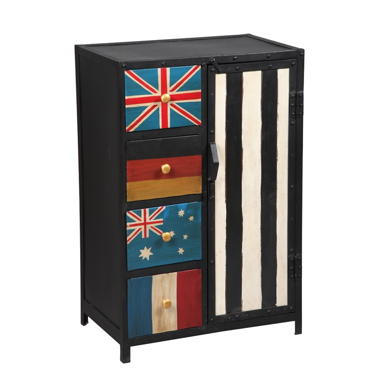 meuble de rangement 1 porte 4 tiroirs college univers rangement. Black Bedroom Furniture Sets. Home Design Ideas