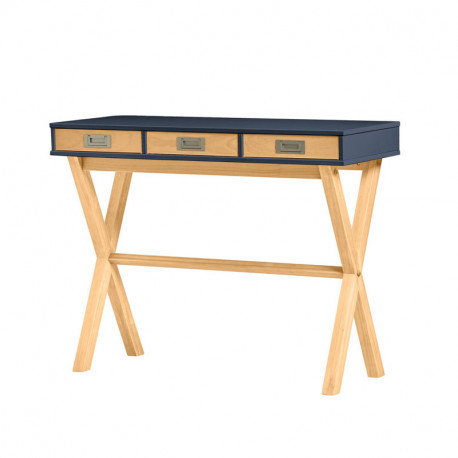 Console 3 tiroirs Gris anthracite/Bois - RAPHY