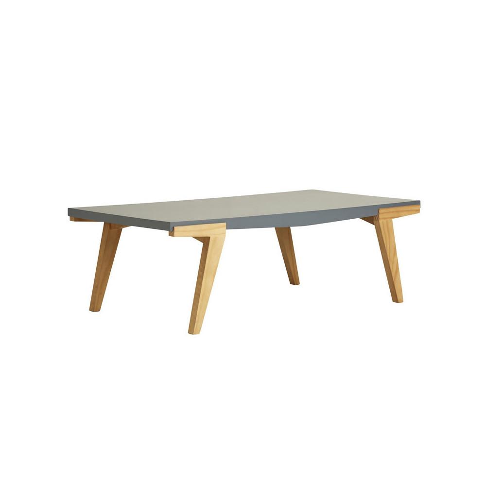Table basse rectangulaire Bois/Gris - MIGUEL