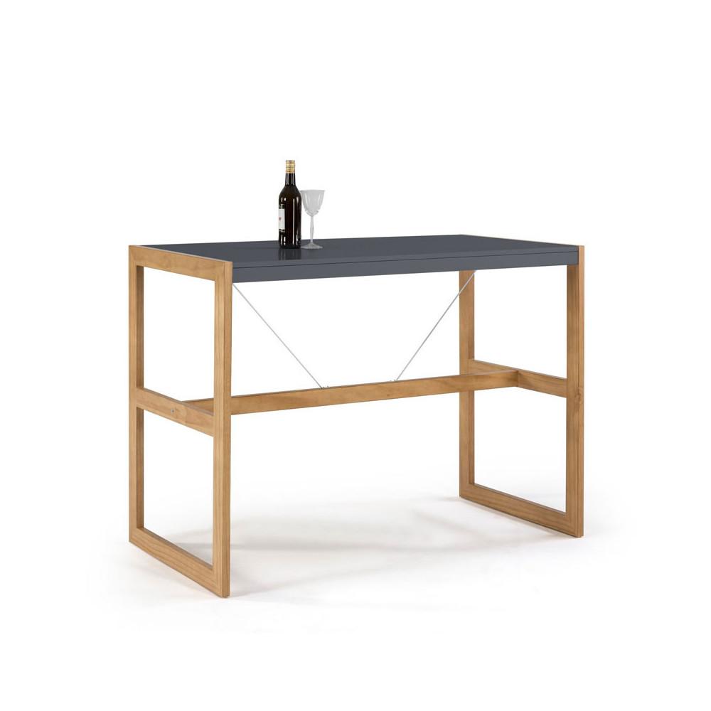 Table haute rectangulaire Gris/Chêne - ODILE
