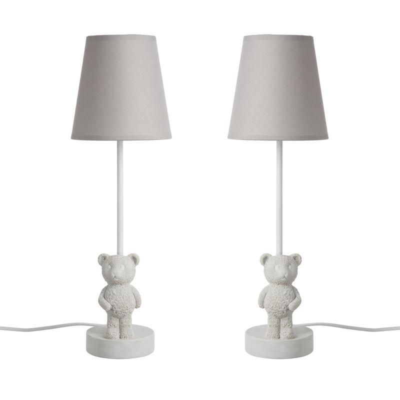 Duo de Lampes de chevet Résine blanche - CUBBEAR
