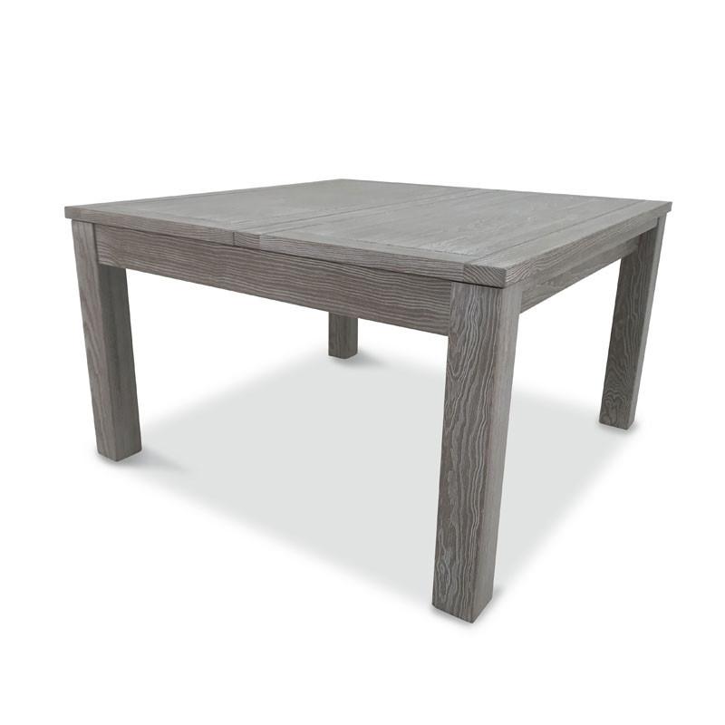 Table de repas carrée à allonge Pin massif - GABRIEL
