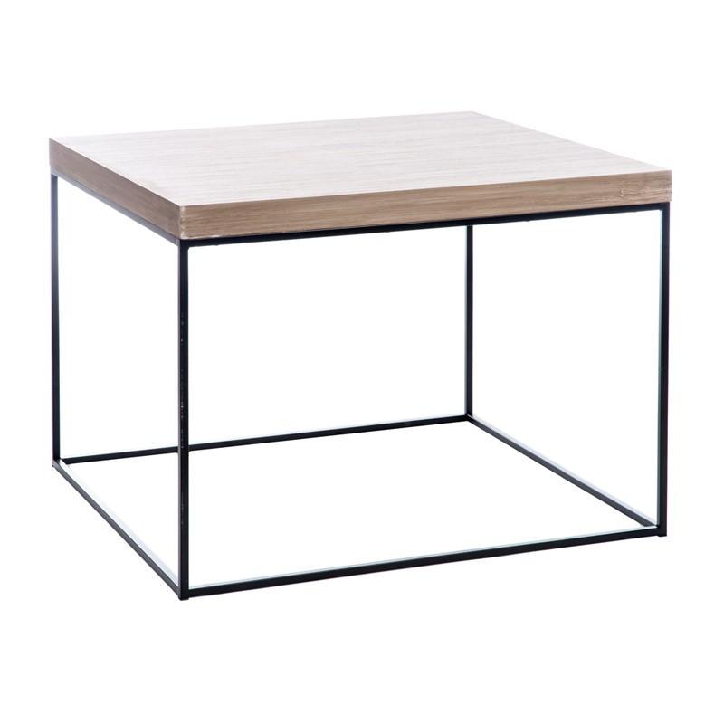 Table basse taille L bois fumé et métal - FILLA