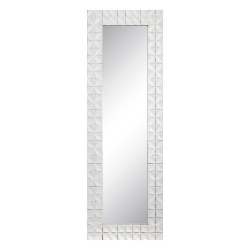 Miroir Bois Blanc contemporain - Univers Décoration : Tousmesmeubles