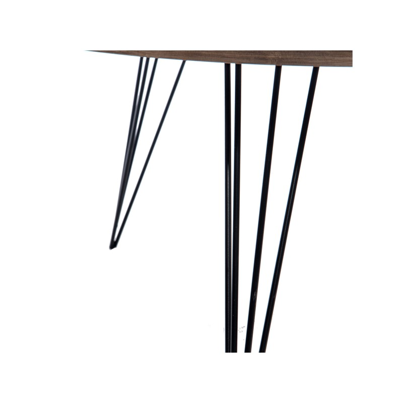 Table basse bois fum et m tal noir gustave univers salon for Table basse metal et bois