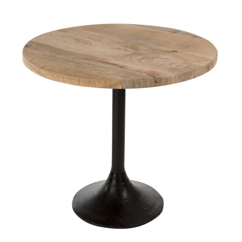 Table d'appoint ronde Bois/Métal - MARGOTTE