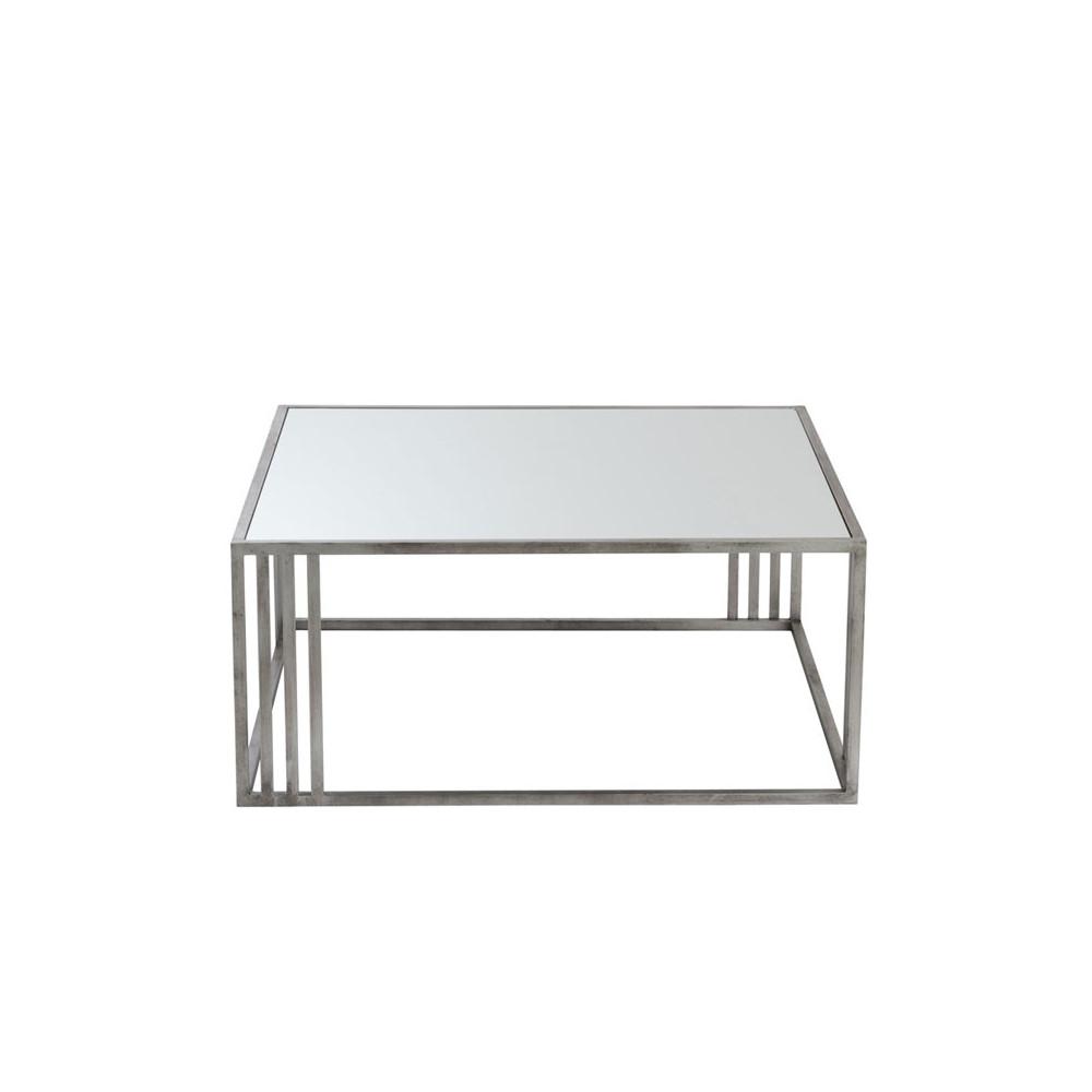 Table Carrée Arone Salon Métal Argentverre Univers Basse Du cj3LARq54