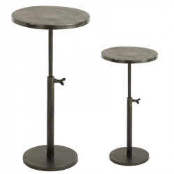 Duo de Tables de bistrot Noires - ERZA