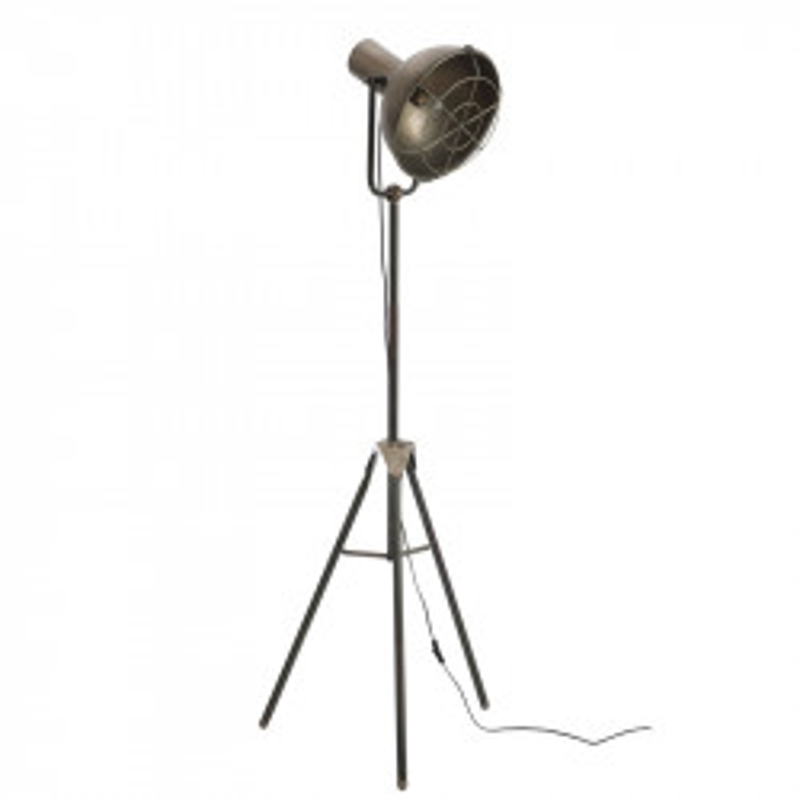 Lampadaire rond Métal gris N°3 - FINEAS