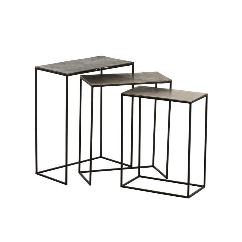 Trio de Tables gigognes Métal/Aluminium - JULIANA