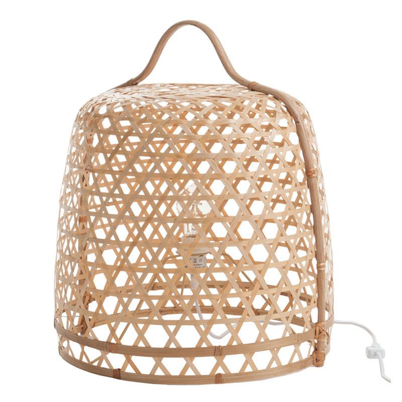 Lampe à poser ronde Bambou naturel - BERTHA
