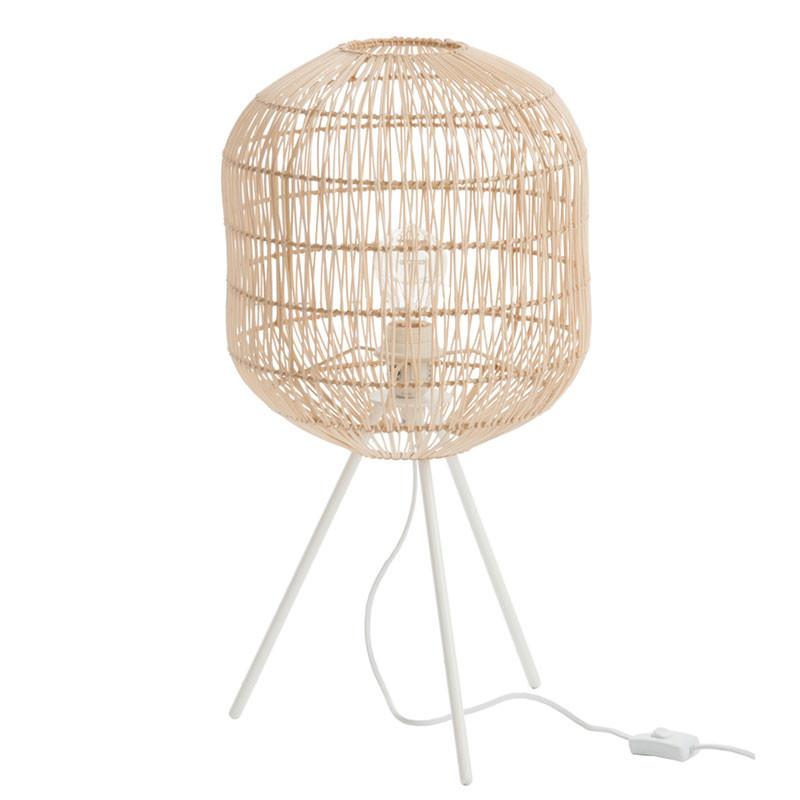 Lampadaire rond Bambou naturel - BERTHA