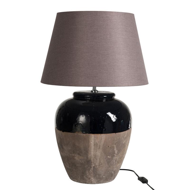 Lampe à poser Céramique bleu/gris - DELACOUR