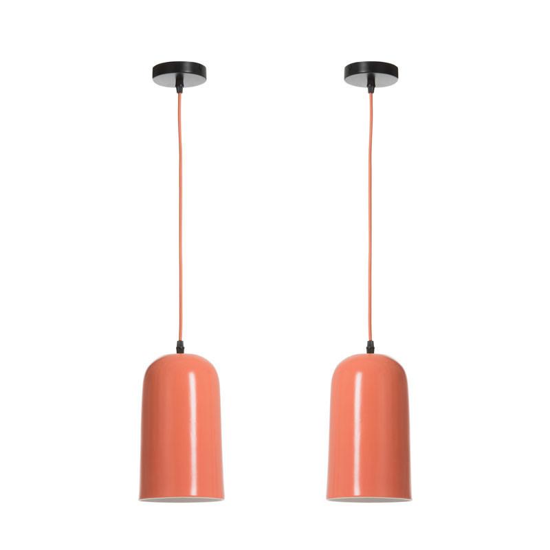 Duo de Suspensions Porcelaine orange - IMPALA
