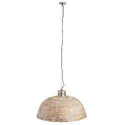 Suspension ronde taille M Bambou beige - LETA
