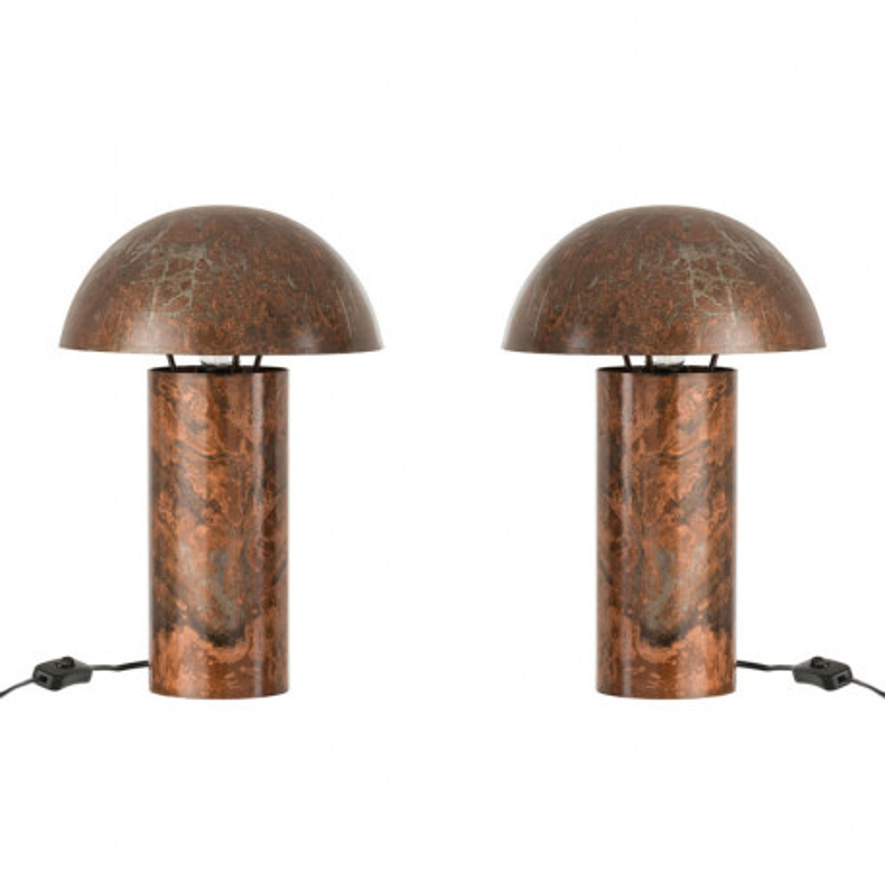 S Métal Décoration Coprin La Chevet De Taille Univers Duo Lampes n80wmN