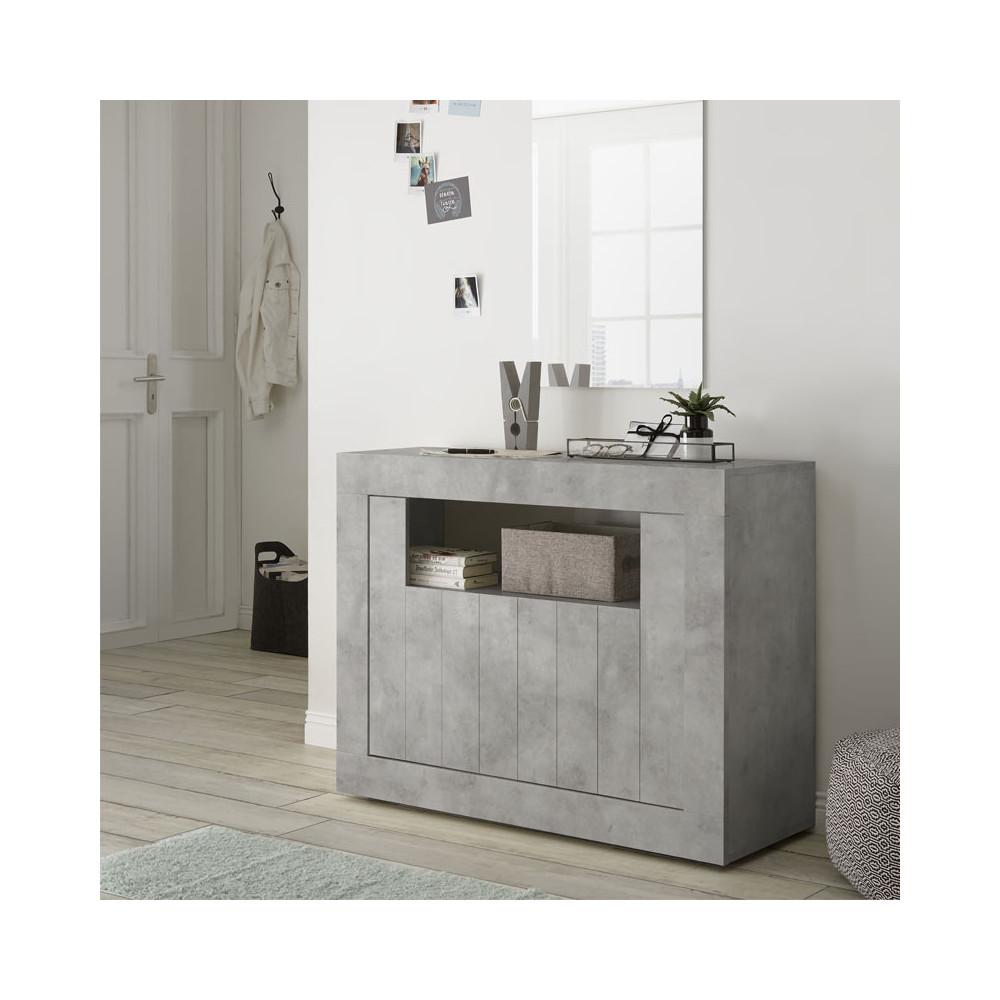 meuble d 39 entr e 2 portes b ton cir clair lubio univers. Black Bedroom Furniture Sets. Home Design Ideas