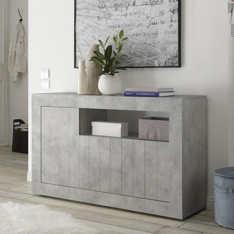 buffet 3 portes 1 niche b ton cir clair lubio univers salle manger. Black Bedroom Furniture Sets. Home Design Ideas