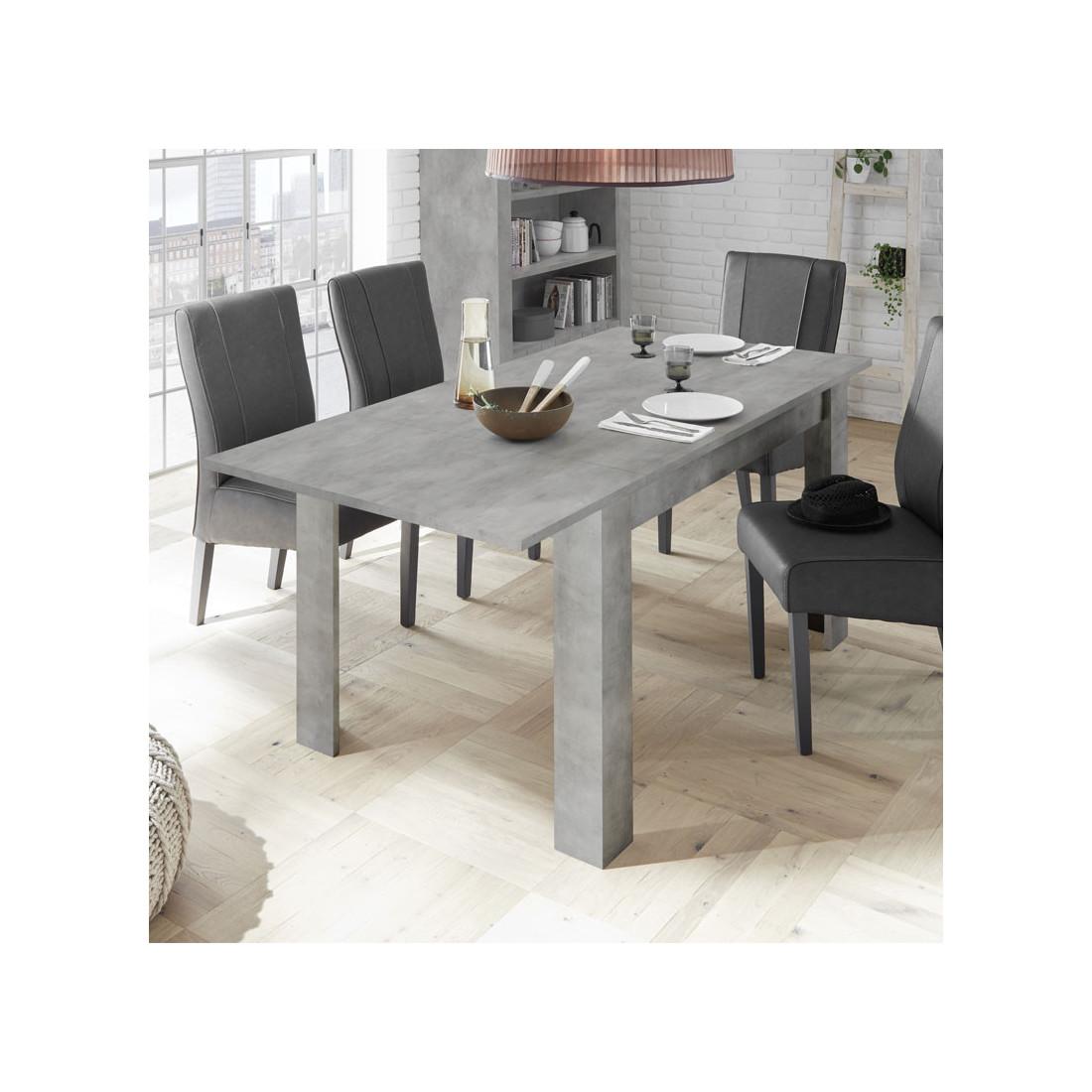 table de repas allonge b ton cir clair lubio univers salle manger. Black Bedroom Furniture Sets. Home Design Ideas