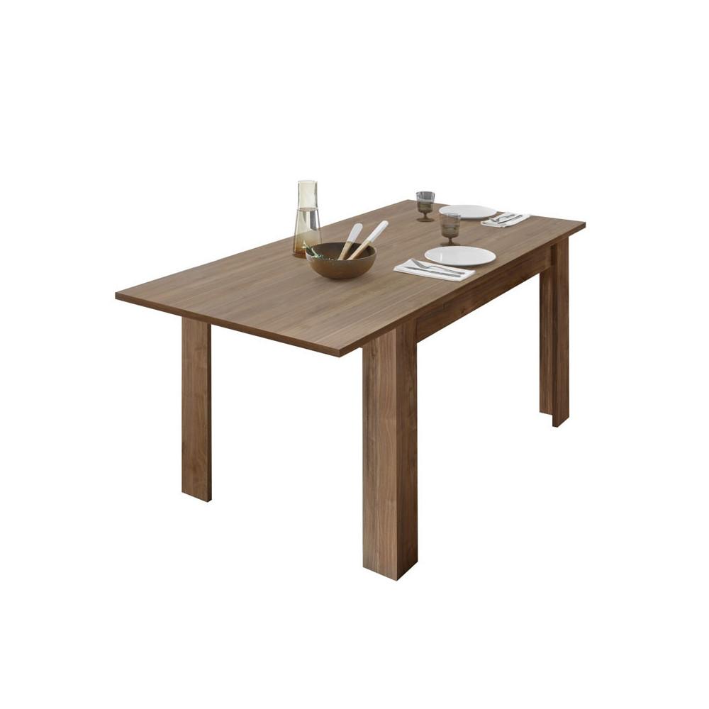 Table de repas à allonge Noyer - LUBIO